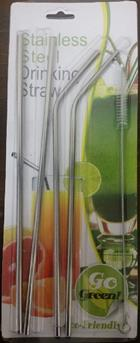 Image for the CaseMetro Stainless Drinking Straw and Brush product