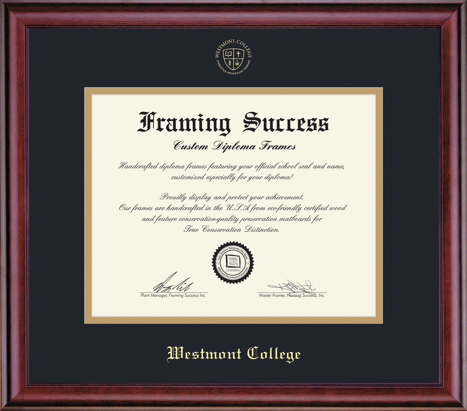 Image for the Framing Success Diploma Frames product