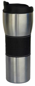 Image for the Westmont College Black Leather Band Travel Mug product