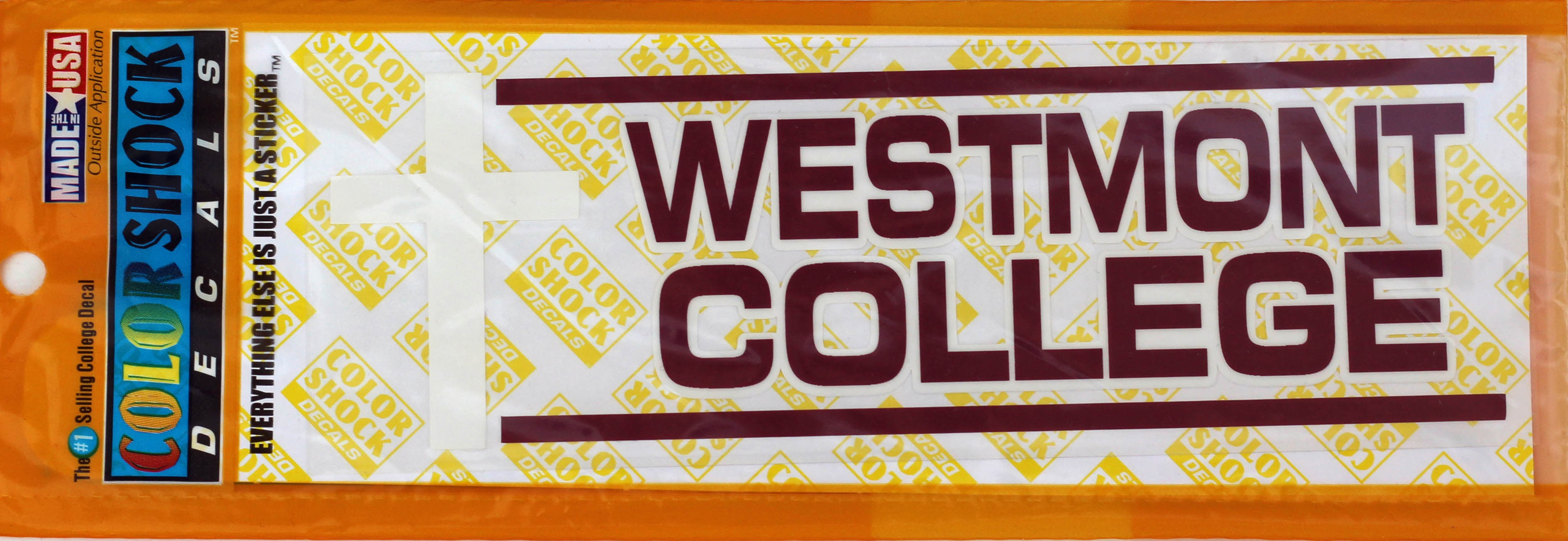 Image for the Westmont College with Cross decal product