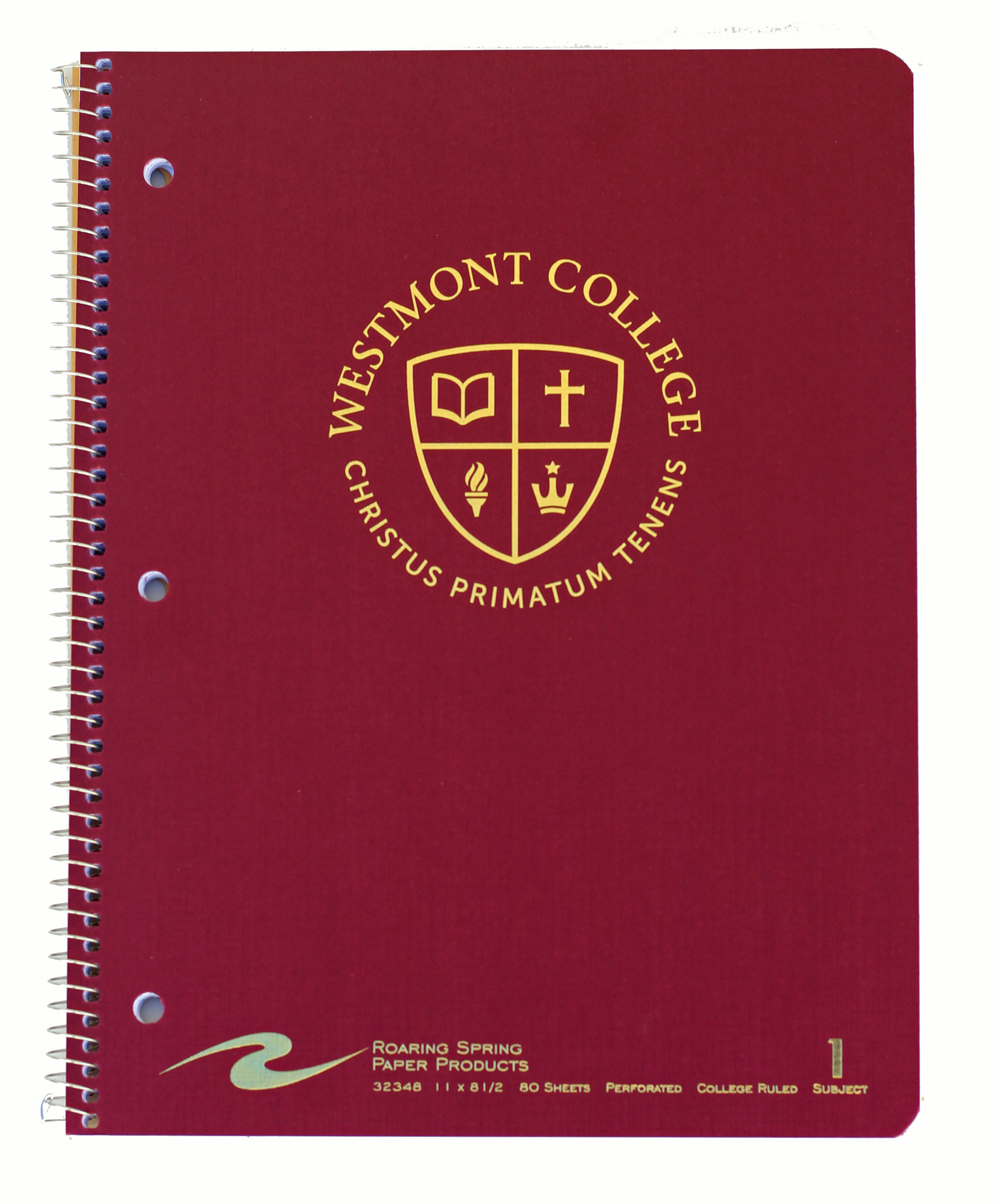 Image for the Westmont One Subject Notebook product