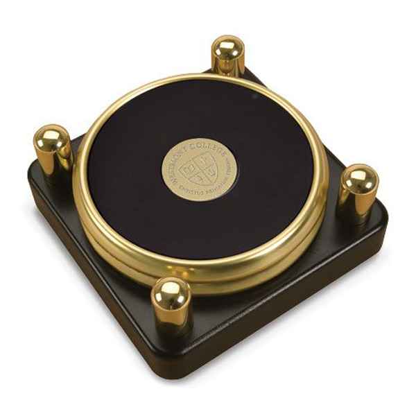 Image for the CSI 15W/G-G Goldtone Coaster Set of 2 w/metal stand product