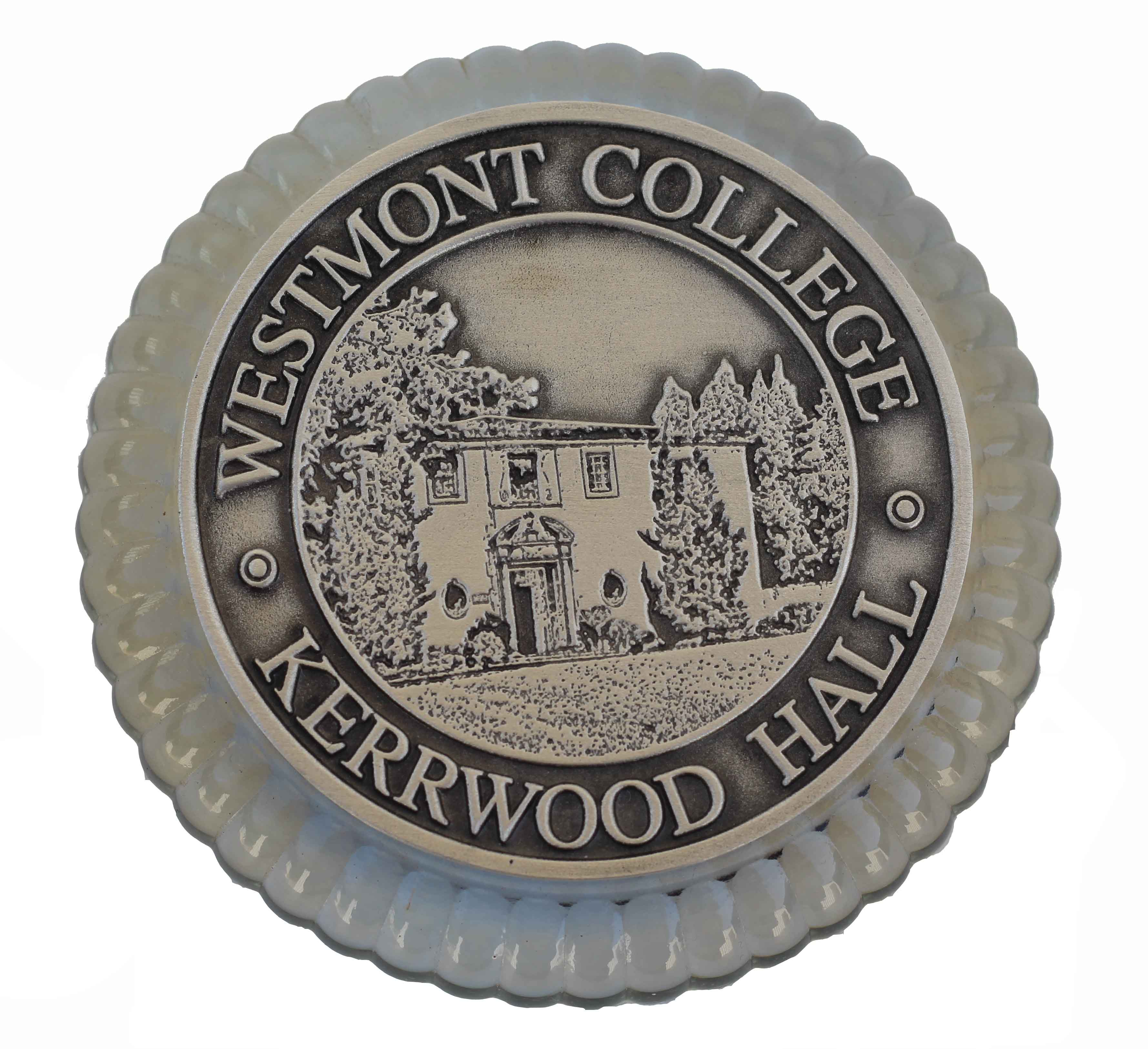 Image for the Crystal and Silver Kerwood Hall Paperweight product