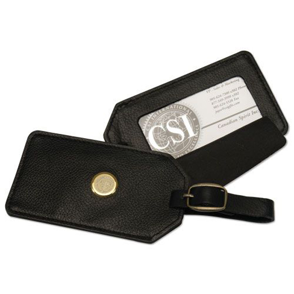 Image for the CSI N14Y-S Luggage Tag; Leather Medallion product