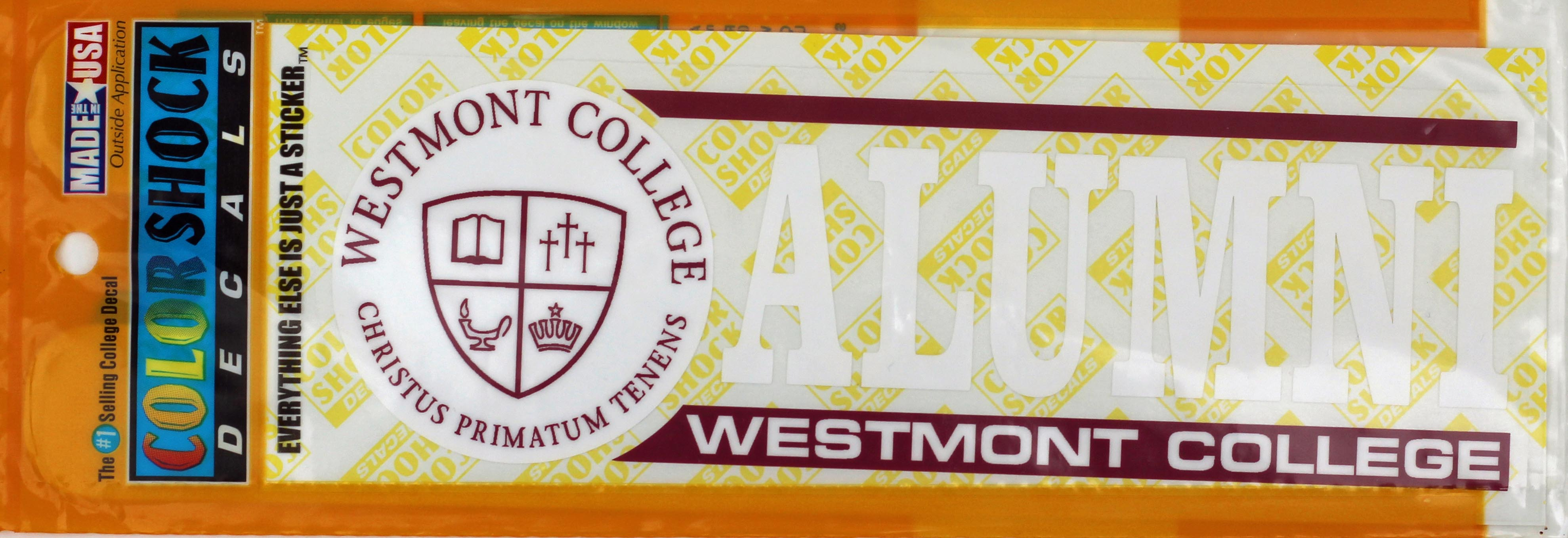 Image for the Color Shock Westmont Alumni Seal Decal product