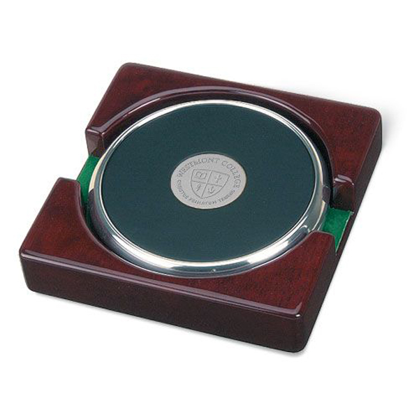 Image for the CSI 15D/S-S Coaster Set of 2 w/ rosewood stand product