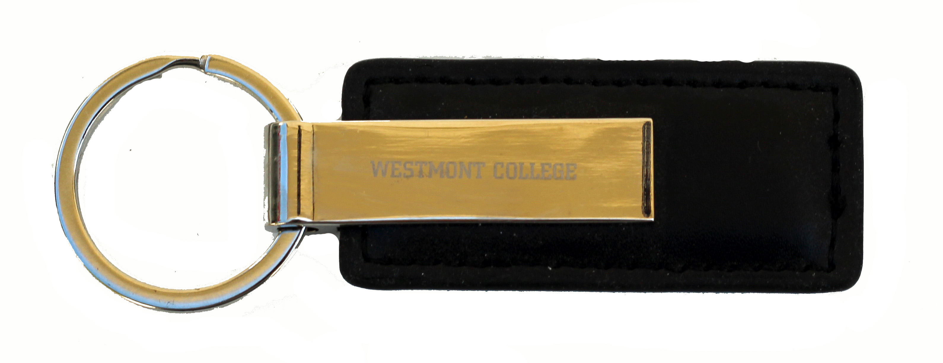 Image for the Westmont College Black Leather Keytag product