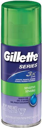 Image for the Gillette Shave Gel Sensitive 2.5oz product
