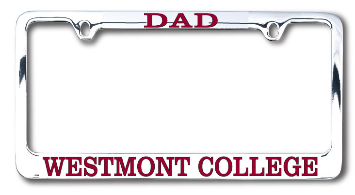 Image for the Dad Chrome License Plate Frame product
