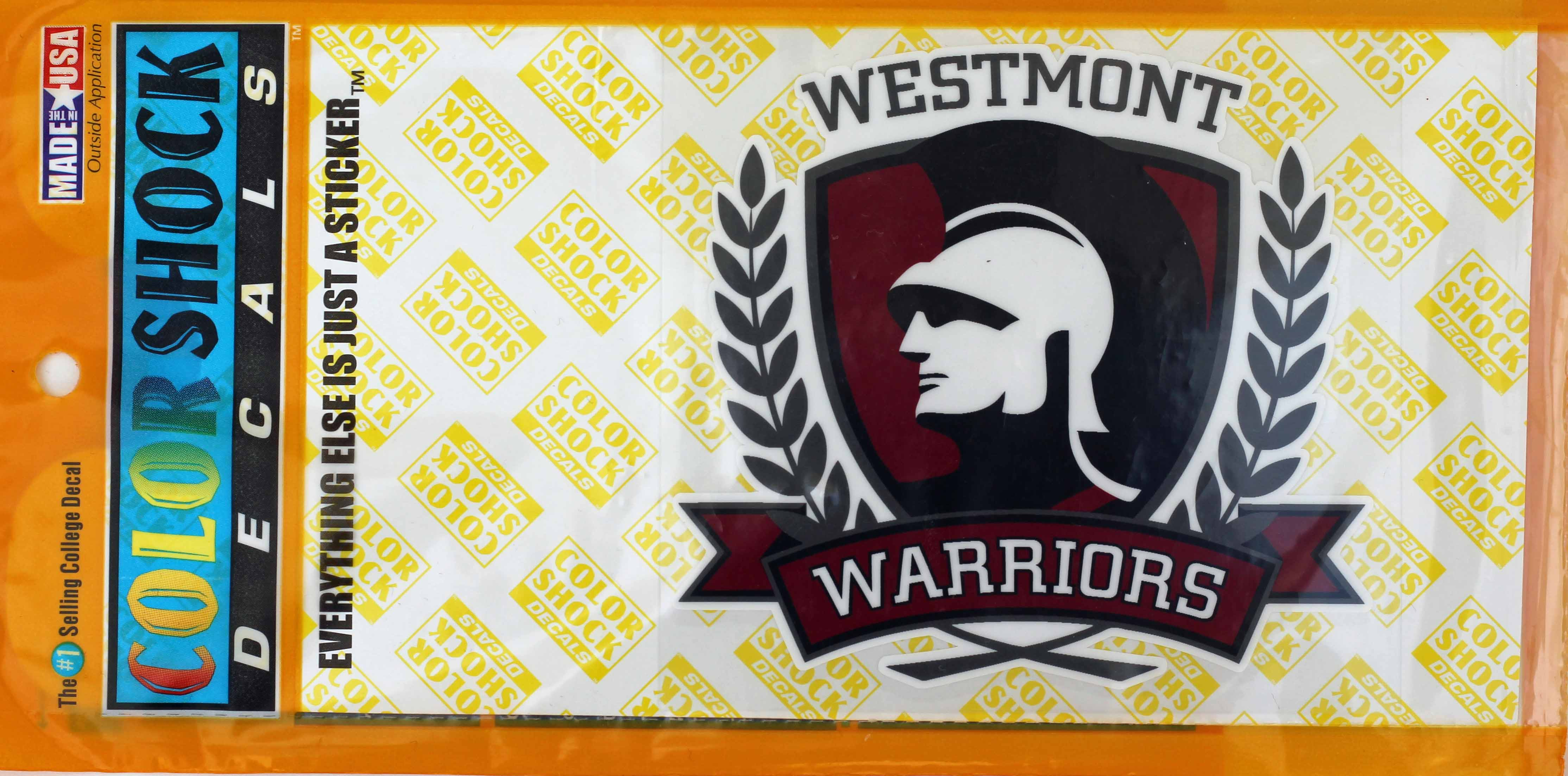Image for the Color Shock Westmont Warrior  Decal product