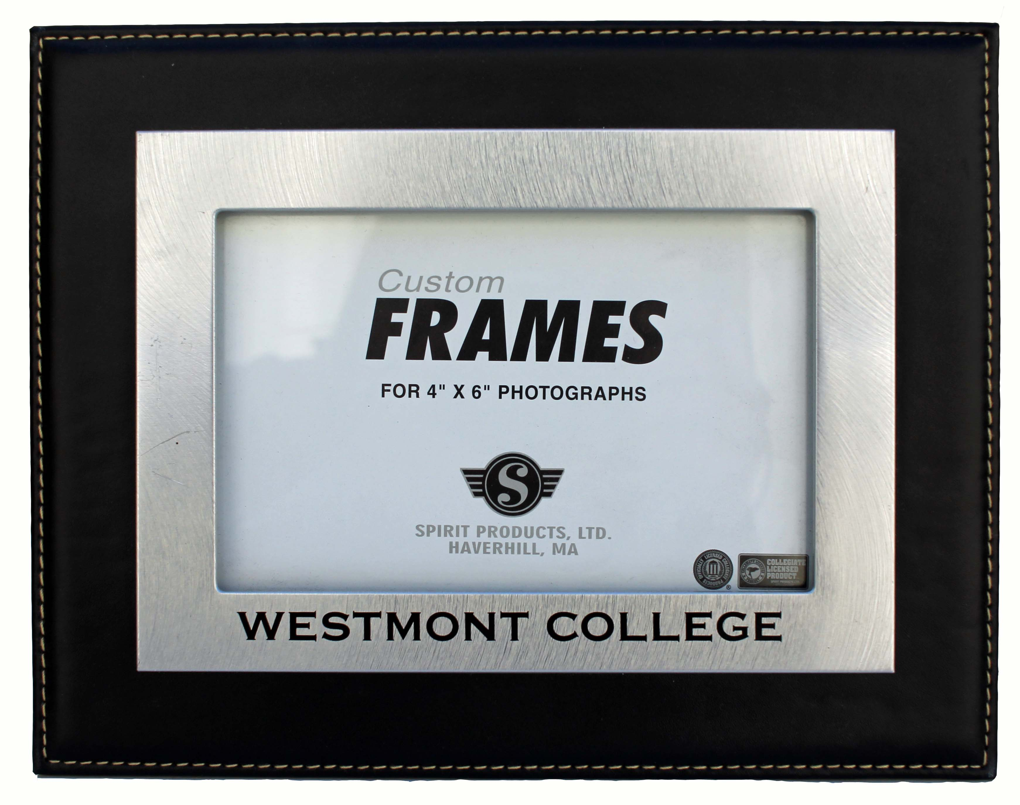 Image for the Westmont College Silver and Leather Picture Frame product
