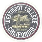 "Image for the Camp David Westmont CA Circle 3"" x 3"" Decal product"