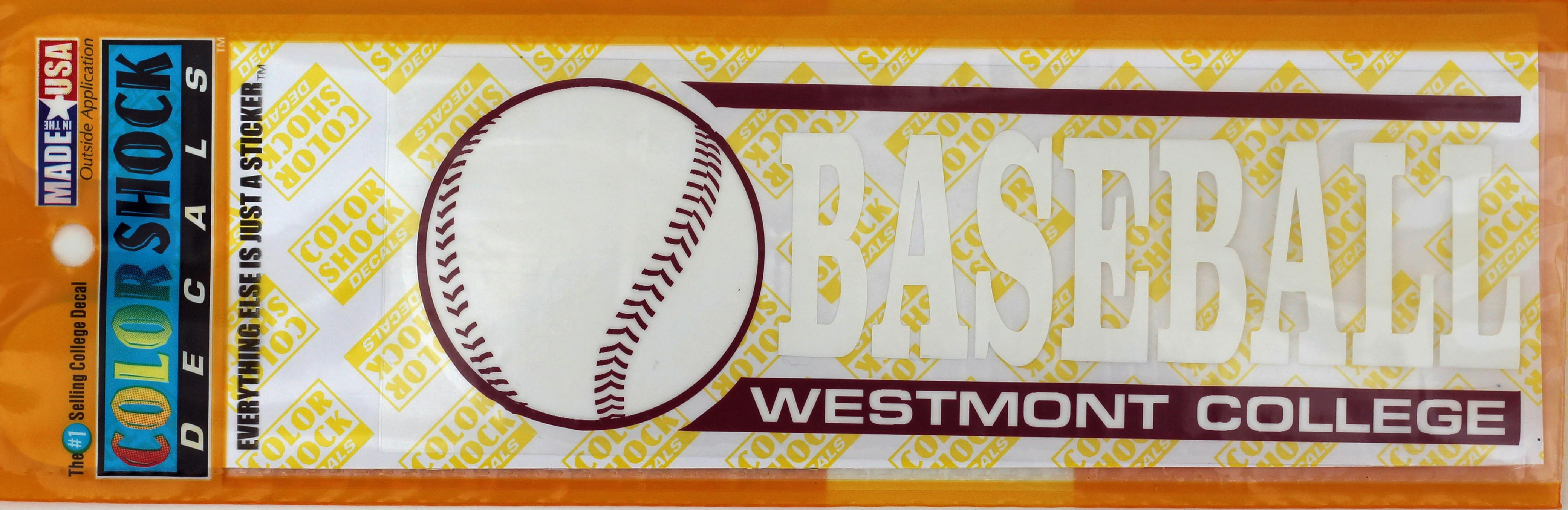 Image for the Color Shock Baseball Decal product