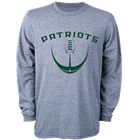 Image for the MORTHLAND OLD SCHOOL GRAY FOOTBALL LONG-SLEEVE T-SHIRT product