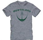 Image for the MORTHLAND OLD SCHOOL GRAY FOOTBALL T-SHRIT product
