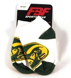 Image for the White Footie Sock with Large Ram Logo product