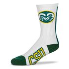 Image for the Colorado State Vertical Stripe Ram Head Sock product