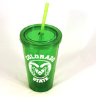 Image for the Green Tumbler with Lid & Straw product