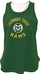 Image for the Z SPIRAL COLO STATE RAM LADIES TANK- GREEN/WHITE product