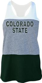 Image for the COLORADO STATE LADIES COLOR BLOCK TANK product