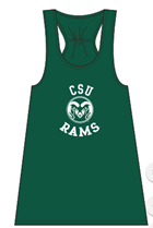 Image for the GREEN YOUTH CSU RAMS FLARE GIRLS TANK product