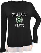 Image for the COLORADO STATE LADIES CARLY HI LO LONG SLEEVE SHIRT product