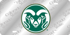 Image for the Colorado State Ram Logo Laser Frost License Plate  product