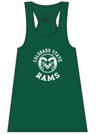 Image for the GREEN COLORADO STATE RAMS FLARE LADIES TANK product